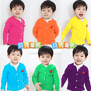 2013 summer heart clothing boys girls clothing baby cardigan wt-0679 sun protection clothing