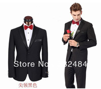Free Shipping Top Grade slim fit  business suit  fashion wedding dress suits  coat +pants