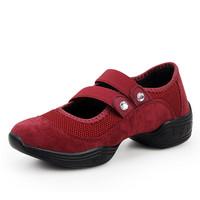Female soft dance shoes modern dance shoes outsole women's elevator dance shoes dance shoes square summer aerobics shoes