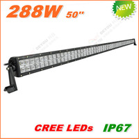 Free Shipping New 288W CREE LED Work Light  Bar 12V 24V IP67 Flood Spot beam For 4WD 4x4 Off road Light Bars TRUCK BOAT TRAIN