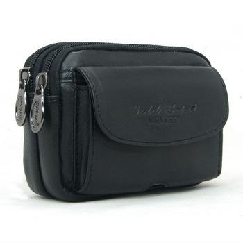 Sheepskin waist pack mobile phone flip sheepskin bag mobile phone case sheepskin waist pack man bag mobile phone bag 8053
