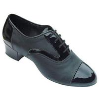 Black genuine leather Latin dance shoes men's ballroom dancing shoes male dance shoes dance shoes