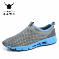 2013 wholesale cutout summer shoes hole shoes casual shoes foot wrapping water sandals breathable gauze men's