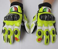 Agv46 memorial racing gloves genuine leather carbon fiber gloves motorcycle gloves full knight gloves