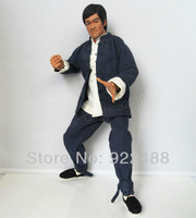 Free shipping Bruce Lee 1/6 custom Kung Fu suit ENTER THE DRAGON for Hot toys Enterbay figure(not include Bruce Lee figure)