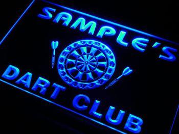 ts-tm Name Personalized Custom Dart Club Bar Beer Neon Sign