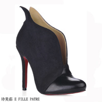 HOT !! 2014 new China's  winter fashion popular red bottom high heels boots ankle-length boots,High quality,Design perfect cheap