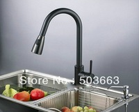 Pull Out Kitchen Faucet Oil Rubbed Bronze Black Kitchen Sink Mixer Tap L-5900