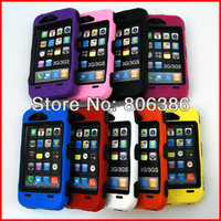 Wholesale 100pcs/lot New Fashion Shock Proof Hybrid Rugged Shock Triple Layer Tough Robot Hard Full Cover Case For iPhone 3G 3GS
