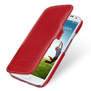 Tetded  for SAMSUNG   i9500 s4 mobile phone case leather case protective case i9500 holsteins i9500 protective case red