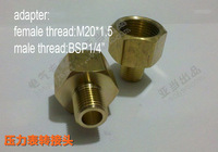 """adapter for tube,Female thread M2.0*1.5 charge Bsp 1/4"""""""