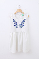 7759 sty nda vintage personality embroidery three-dimensional flower sleeveless one-piece dress