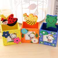 Stationery korea stationery photo frame animal pen small animal wool pen