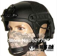 Latest Edition Airsoft IBH Helmet with NVG Mount & Side Rail Black free shipping