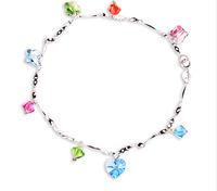 Italina free shipping Hot-selling 925 pure silver anklets