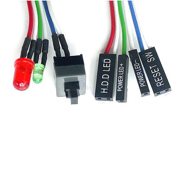 5pcs to 20pcs---New PC Desktop Computer in Case ATX Power On Reset Switch Cable With HDD status LED Light