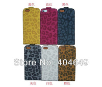 Turned up and down Leopard grain leather case for new iPhone 5 1pcs/lot,high quality, Freeshipping