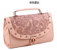 Fashion Lady Lace Handbag Fashion women's handbag New PU Leather Designer Tote Crossbody Shoulder Messenger Bag Free Shipping