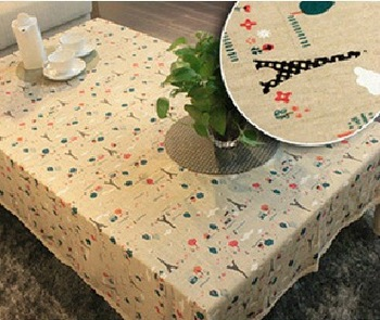 2013 Hot selling Eiffel tower fluid Roundtable tablecloth rustic  lace fabric fashion dining tablecloth 1pc