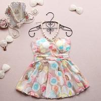 Женское платье spring autumn women half puff sleeve denim dress, gril's cute half sleeve dress, lady's beading autumn dress, gril one-piece