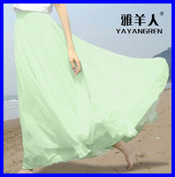 Sheep pleated expansion bottom slim hip bag skirt fairy chiffon bust skirt bohemia half-length full dress