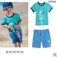 2013 Europe hot sale  baby boys clothes ( pants+T shirt )2pcs Children suits boys clothing sets newest beach style  5sets/lot