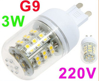 48 SMD3528 3w G9 LED Corn Light Bulb Free shipping