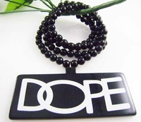 free shipping A005 Top quality goodwood style NYC basketball team fashion hiphop logo DOPE Acrylic necklace 30pcs