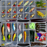 Free shipping, 106pcs/set fishing lure bait minnow/popper/crank/vib/soft worm