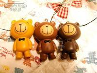 30pcs 6cm chocolate bear cartoon squishy