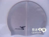 free shipping Solid color silica gel swimming cap sc601 waterproof swimming cap silver