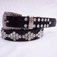 Fashion crystal decoration women's belt Women rhinestone full diamond rhinestone waist belt with diamond strap
