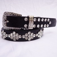 Fashion crystal decoration women's belt Women rhinestone full diamond rhinestone waist belt with diamond strap