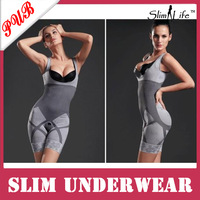 Women NATURAL Slimming Underwear Bodysuit  Bamboo Charcoal Slimming Body Shapers 500PCS