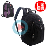 Swiss army knife double-shoulder school bag commercial backpack male women's handbag travel bag
