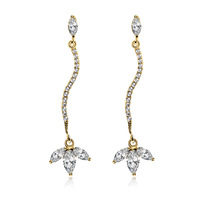 Christmas Accessory 2013 New Fashion Women Long design Earring Anti-allergic AAA Zirconia Prong Setting  On Sale Free Shipping