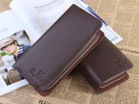 PU  Leathr Wallet For Men,Fashion Pure Colour Men Wallets, Men's Clutch Bags,Free Shipping