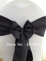 Hot Sale Black Taffeta Chair Sash For Wedding Event & Party Decoration