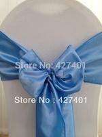 Hot Sale Blue Taffeta Chair Sash For Wedding Event & Party Decoration