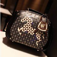 Fashion delicate check woven thread portable bag messenger bags 2013 geometry bag