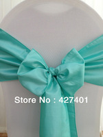 Hot Sale Aqua Taffeta Chair Sash For Wedding Event & Party Decoration