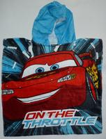 Free shipping cartoon car 100% cotton material boy's bath towel forwith a hat, beach towel/ bathrobe