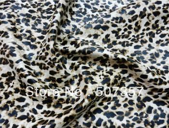 Wholesale semi-PU leather leopard fabric / soft bag sofa leather / elastic matt 10069