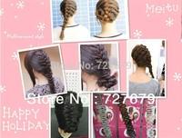 2014 Hair styling wave shape Braider magic hair braiding machine TV shopping Hair Styling Tools mix 6pcs/Lot