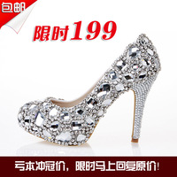 Crystal shoes wedding shoes rhinestone shoes bridal shoes formal dress shoes party shoes ultra high heels shoes