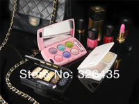 2013 Fashion Stylish PC Glossy Hard Nail Polish Eyeshadow Lipstick Pattern Case Cover for iPhone 5 5G Makeup Series Color