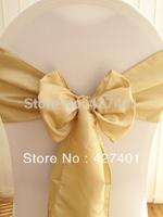 Hot Sale Light Antique Taffeta Chair Sash For Wedding Event & Party Decoration