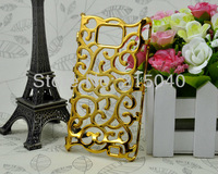 Free Shipping! Unique Design Palace Flower Hollow Out Electroplated Hard Back Cover Case for Samsung Galaxy S2 i9100, SAM-059