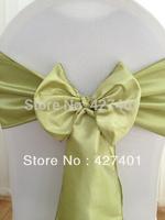 Hot Sale Mint Taffeta Chair Sash For Wedding Event & Party Decoration