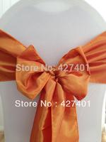 Hot Sale Orange Taffeta Chair Sash For Wedding Event & Party Decoration